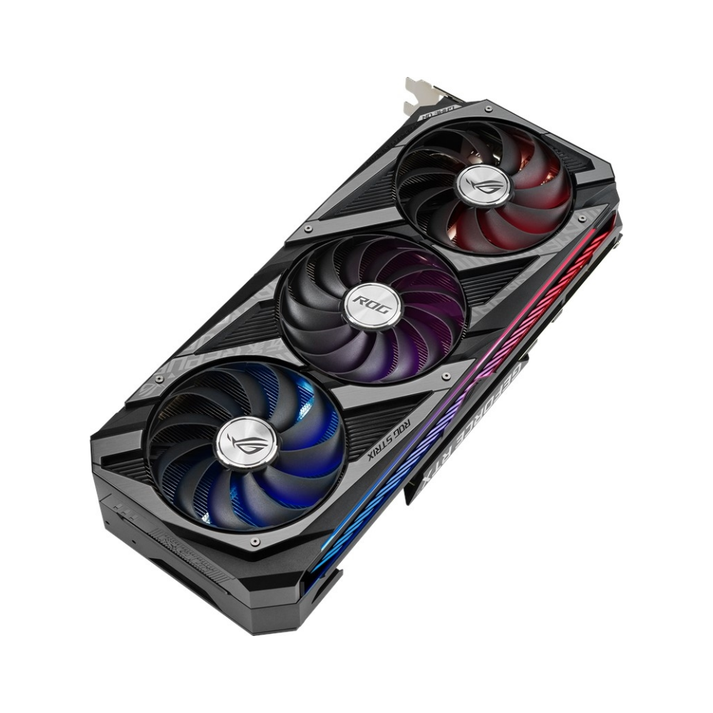 A large main feature product image of ASUS GeForce RTX 3080 ROG Strix Gaming OC 10GB GDDR6X