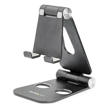 Product image of Startech Smartphone and Tablet Stand - Portable - Foldable -Black - Click for product page of Startech Smartphone and Tablet Stand - Portable - Foldable -Black
