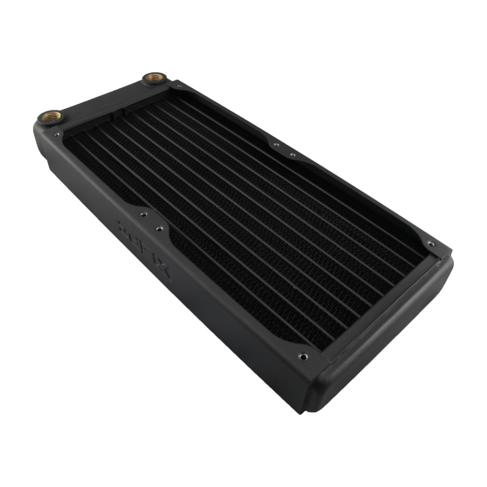 A large main feature product image of XSPC EX240 Dual Fan 240mm Radiator