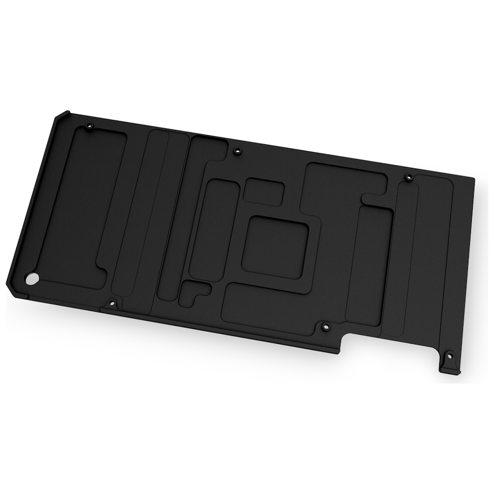 A large main feature product image of EK Quantum Vector TUF RTX 3080/3090 D-RGB Backplate - Black