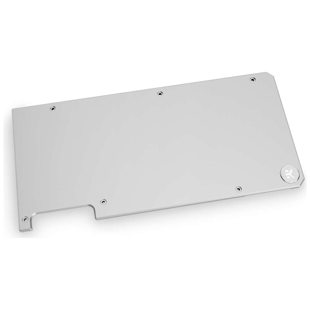 A large main feature product image of EK Quantum Vector TUF RTX 3080/3090 D-RGB Backplate - Nickel