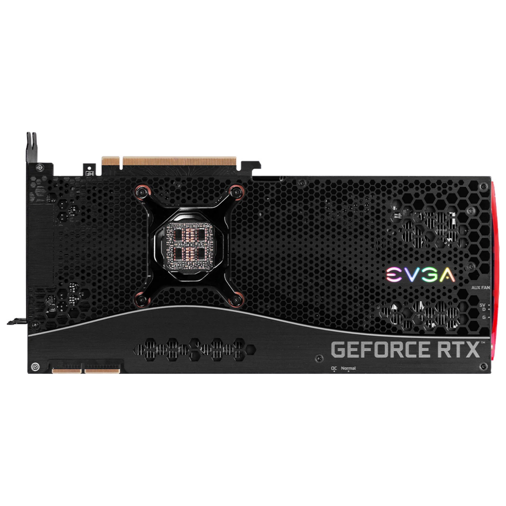 A large main feature product image of eVGA GeForce RTX 3090 FTW3 Ultra 24GB GDDR6X