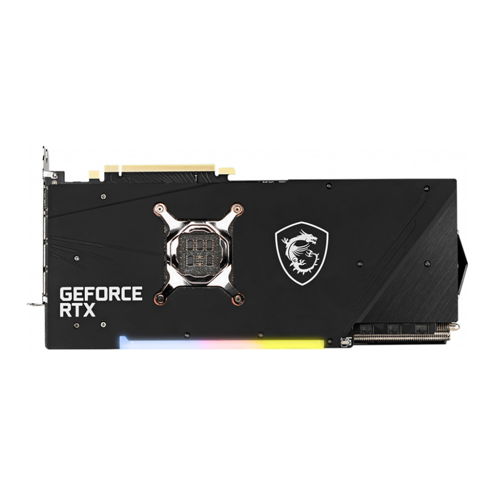 A large main feature product image of MSI GeForce RTX 3080 GAMING X Trio 10GB GDDR6X