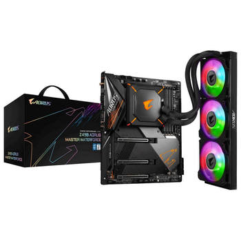 Product image of Gigabyte Z490 Aorus Master Waterforce LGA1200 ATX Desktop Motherboard - Click for product page of Gigabyte Z490 Aorus Master Waterforce LGA1200 ATX Desktop Motherboard