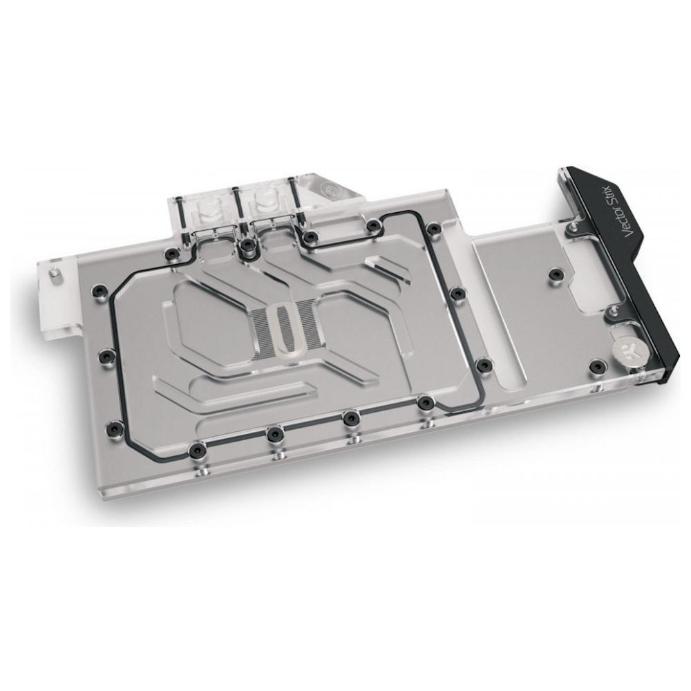 A large main feature product image of EK Quantum Vector Strix RTX 3080/3090 D-RGB - Nickel + Plexi