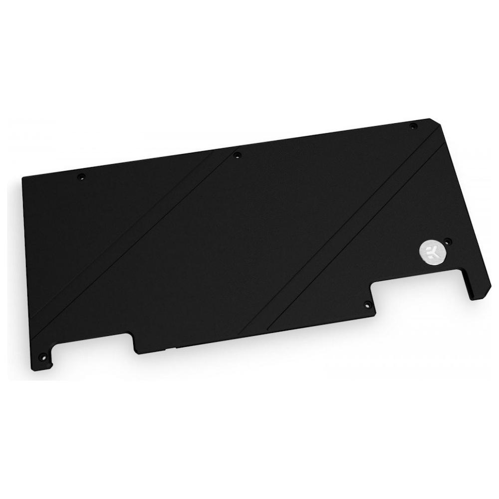 A large main feature product image of EK Quantum Vector Strix RTX 3070/3080/3090 Backplate - Black