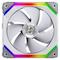 A small tile product image of Lian-Li UNI Fan 120mm Cooling Fan White - Single Pack