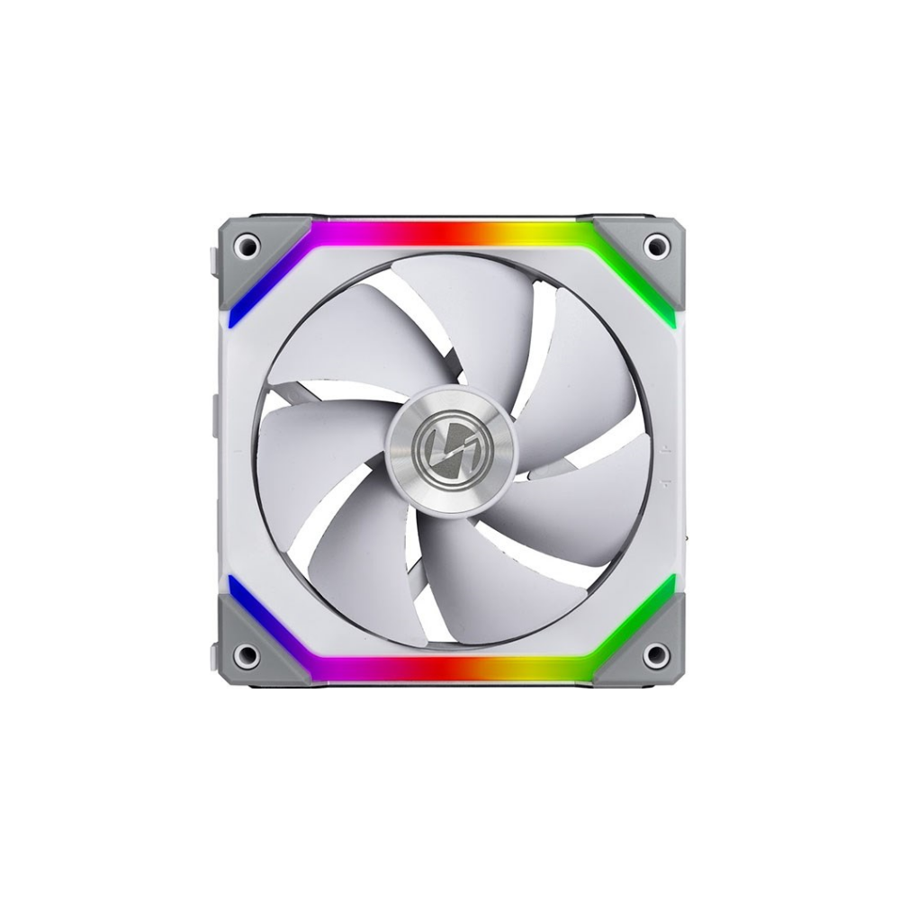 A large main feature product image of Lian-Li UNI Fan 120mm Cooling Fan White - Single Pack