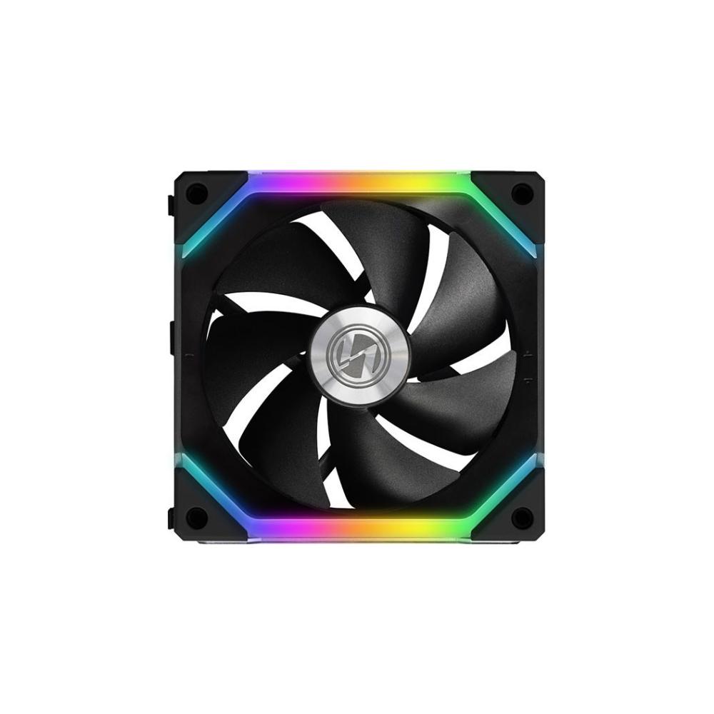 A large main feature product image of Lian-Li UNI Fan 120mm Cooling Fan Black - Single Pack