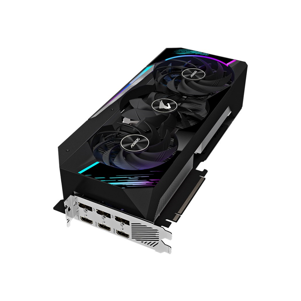 A large main feature product image of Gigabyte GeForce RTX 3090 Aorus Extreme OC 24GB GDDR6X
