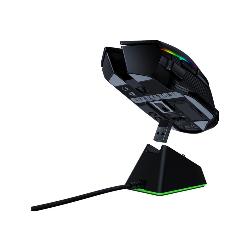 A large main feature product image of Razer Basilisk Ultimate -Wireless Gaming Mouse with Charging Dock