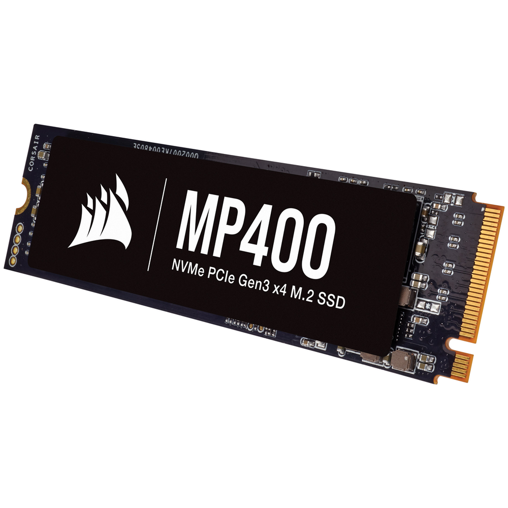 A large main feature product image of Corsair MP400 4TB NVMe PCIe M.2 SSD QLC