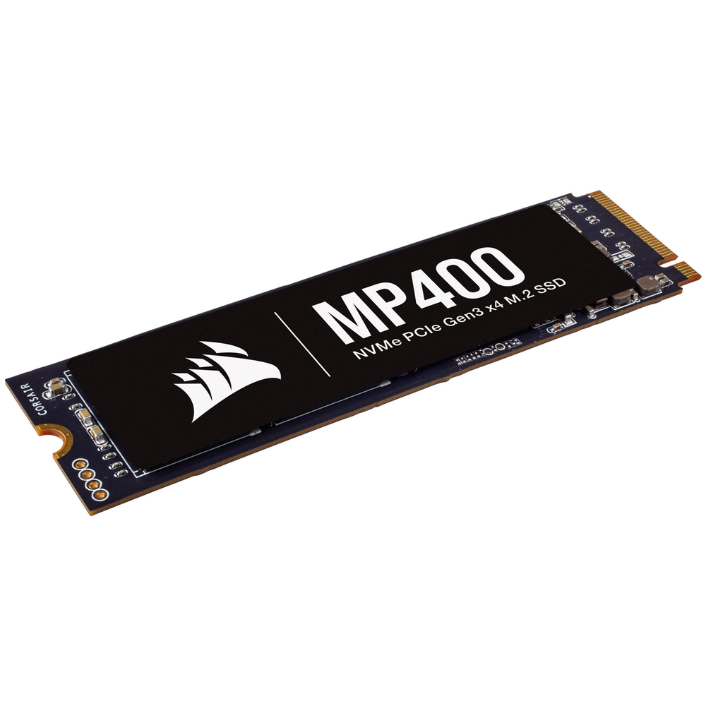 A large main feature product image of Corsair MP400 8TB NVMe PCIe M.2 SSD QLC