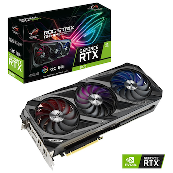 Product image of ASUS GeForce RTX 3070 ROG Strix Gaming OC 8GB GDDR6 - Click for product page of ASUS GeForce RTX 3070 ROG Strix Gaming OC 8GB GDDR6
