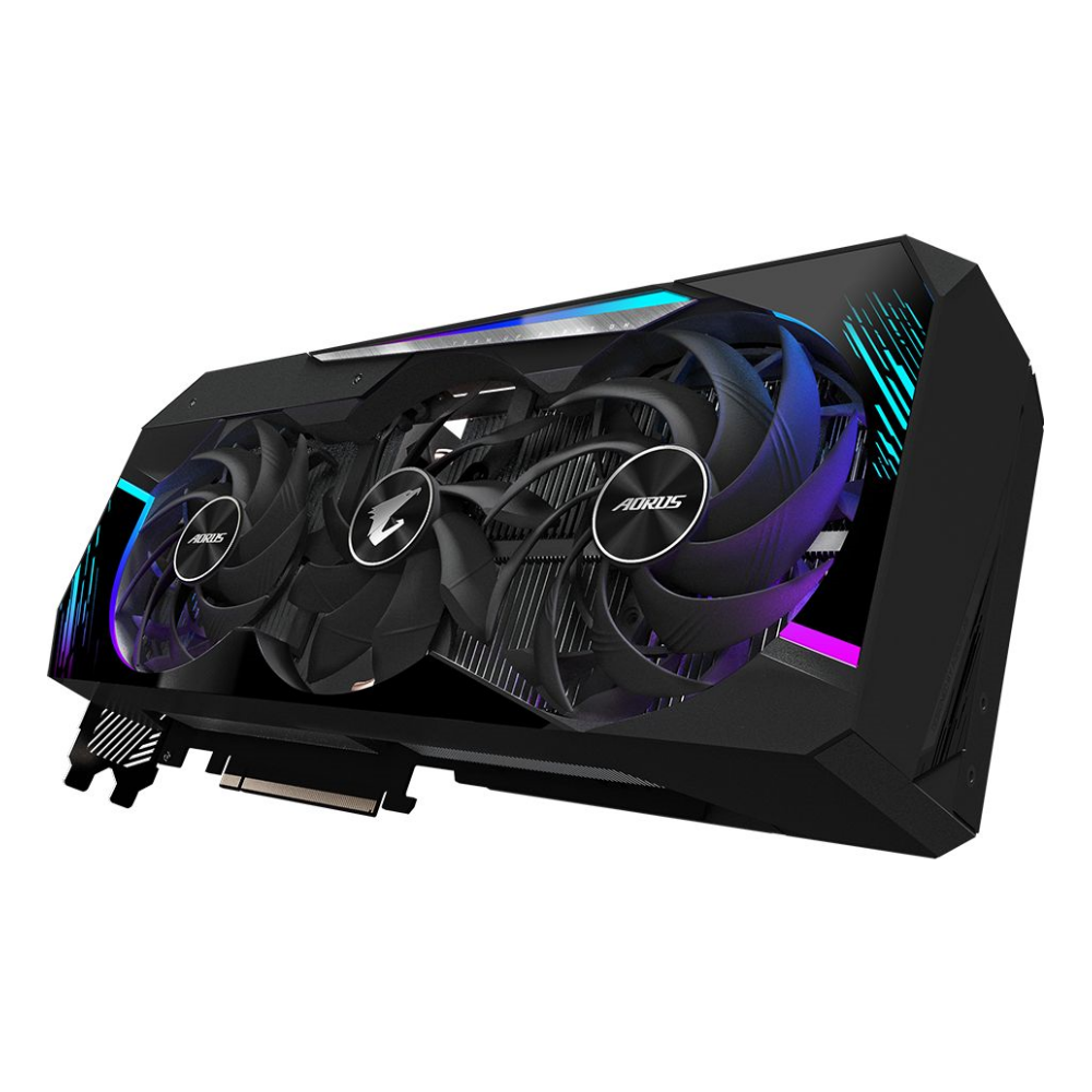A large main feature product image of Gigabyte GeForce RTX 3080 Aorus Master 10GB GDDR6X