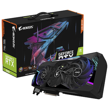 Product image of Gigabyte GeForce RTX 3080 Aorus Master 10GB GDDR6X - Click for product page of Gigabyte GeForce RTX 3080 Aorus Master 10GB GDDR6X