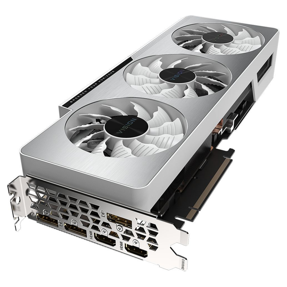 A large main feature product image of Gigabyte GeForce RTX 3080 Vision OC 10GB GDDR6X