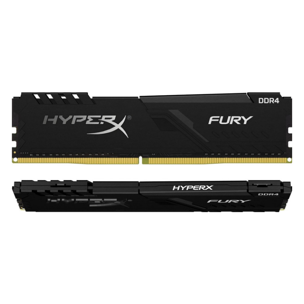 A large main feature product image of Kingston 32GB Kit (2x16GB) DDR4 HyperX Fury Black C18 3600MHz
