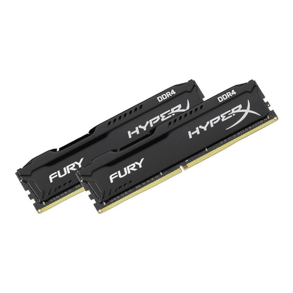 A large main feature product image of Kingston 32GB Kit (2x16GB) DDR4 HyperX Fury Black C16 2666MHz