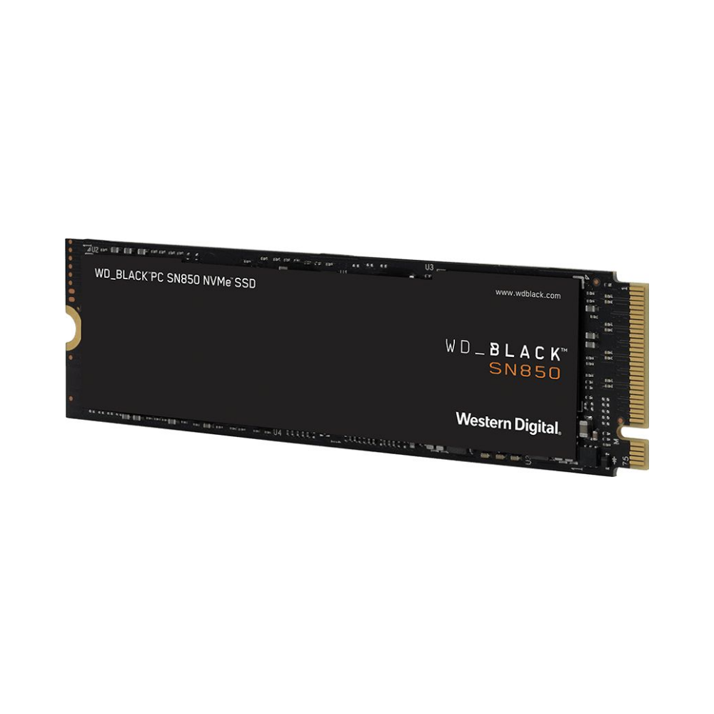 A large main feature product image of WD Black SN850 1TB NVMe M.2 SSD