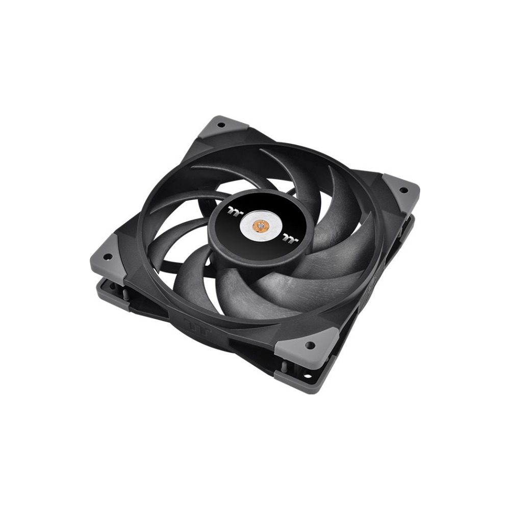 A large main feature product image of Thermaltake Toughfan PWM 120mm Radiator Fan