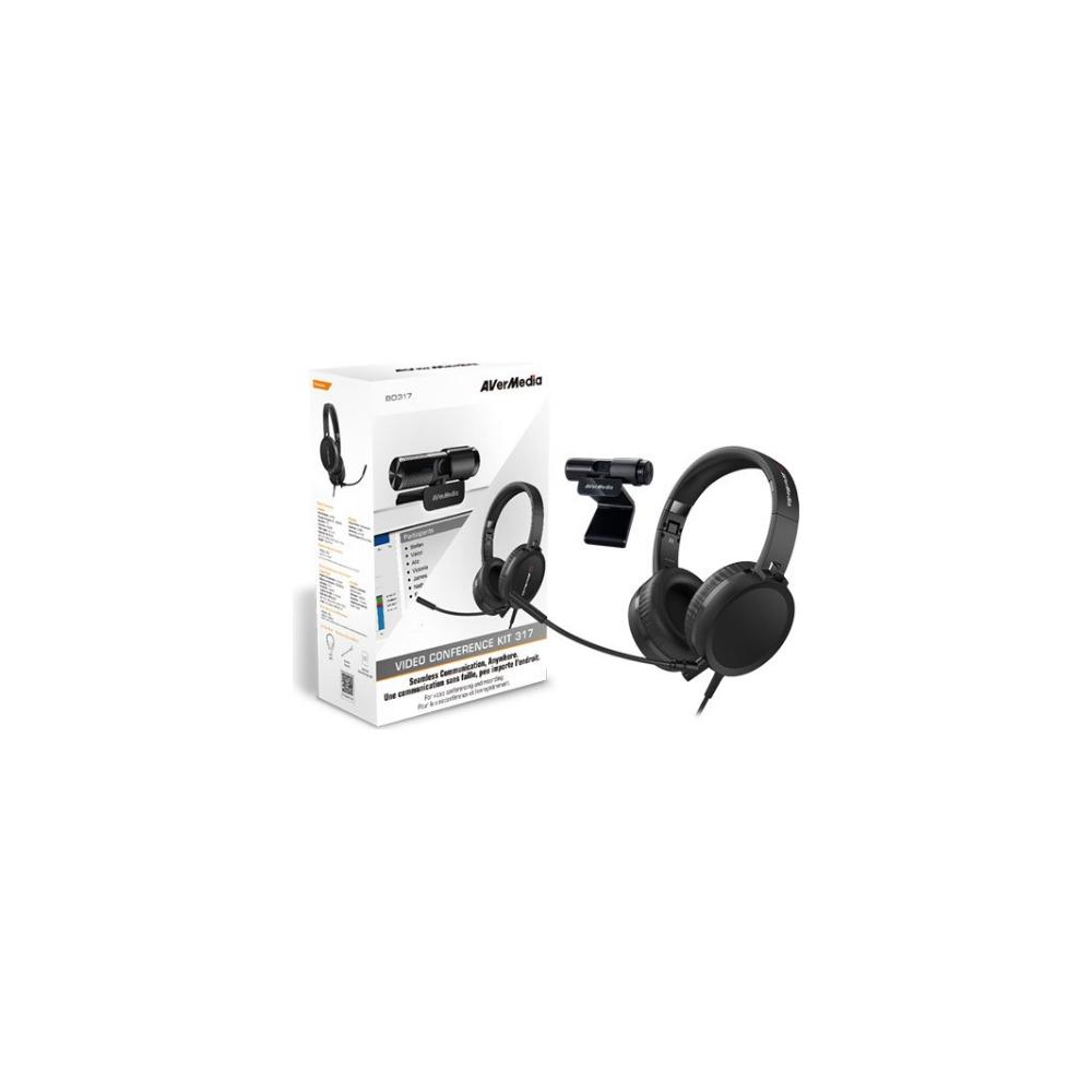 A large main feature product image of AVerMedia BO317 Webcam & Headset Kit