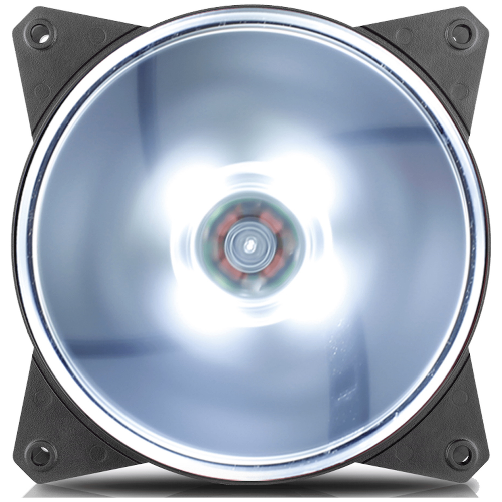 A large main feature product image of Cooler Master MasterFan Lite MF120L 120mm White LED Fan
