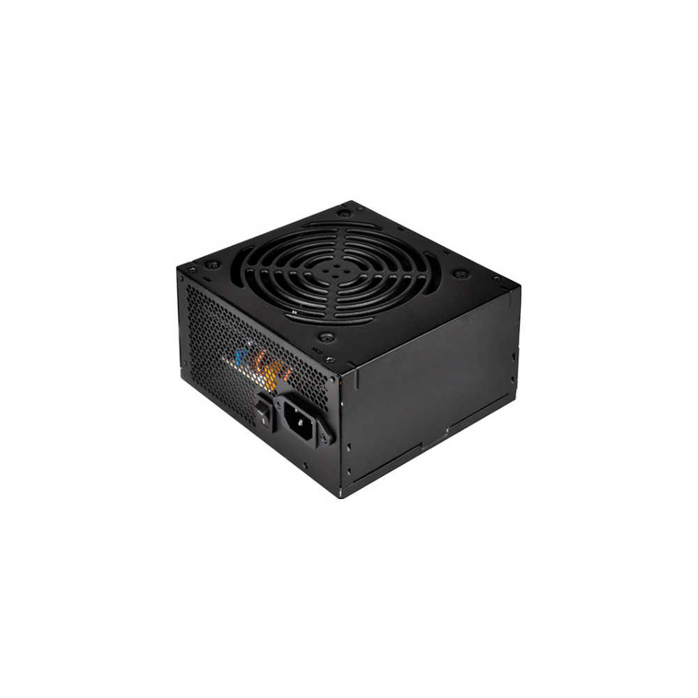 A large main feature product image of SilverStone Essential 550W 80Plus Bronze Power Supply