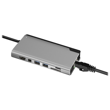 Product image of EX-DEMO ALOGIC Ultra Plus USB Type-C Universal Dock w/Power Delivery - Space Grey - Click for product page of EX-DEMO ALOGIC Ultra Plus USB Type-C Universal Dock w/Power Delivery - Space Grey