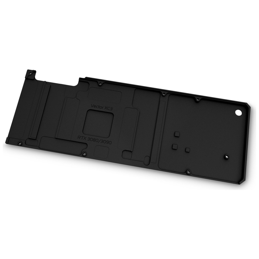 A large main feature product image of EK Quantum Vector XC3 RTX 3080/3090 Backplate - Black