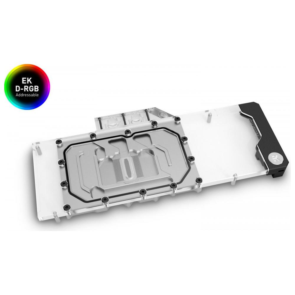 A large main feature product image of EK Quantum Vector XC3 RTX 3080/3090 D-RGB - Nickel + Plexi