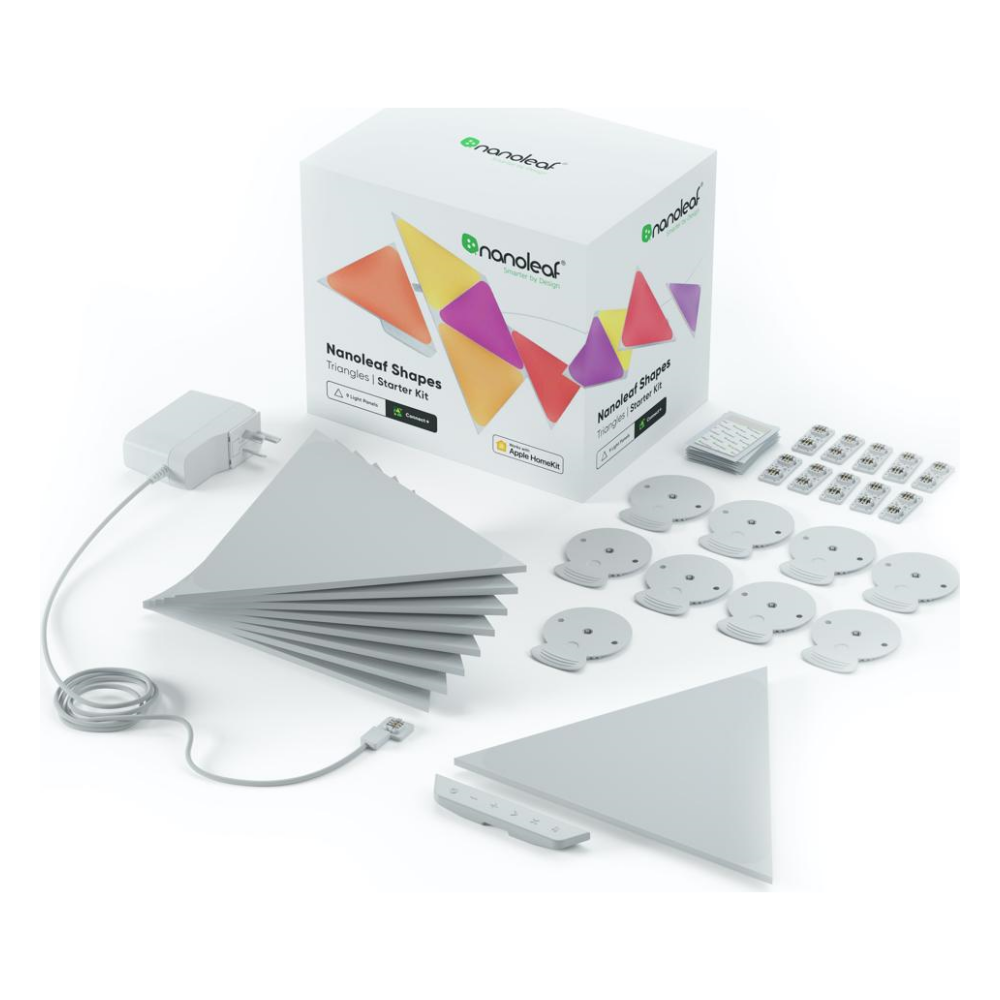 A large main feature product image of NANOLEAF Shapes Triangles Starter Kit - 9 Pack