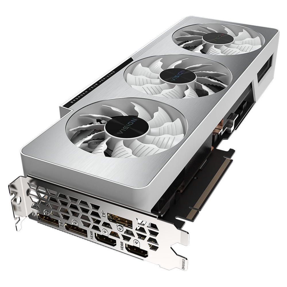 A large main feature product image of Gigabyte GeForce RTX 3090 Vision OC 24GB GDDR6X