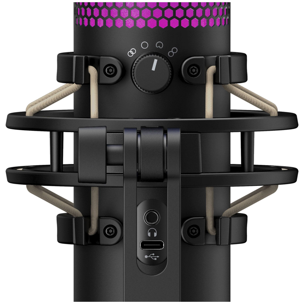A large main feature product image of Kingston HyperX QuadCast S RGB USB Condenser Microphone