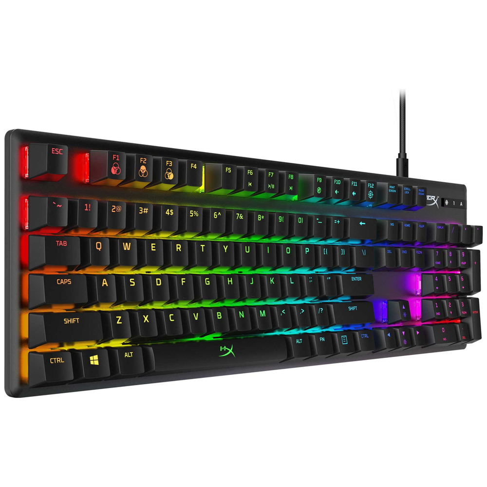 A large main feature product image of Kingston HyperX Alloy Origins RGB Mechanical Gaming Keyboard (MX Blue Switch)