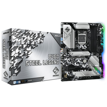 Product image of ASRock B460 Steel Legend LGA1200 ATX Desktop Motherboard - Click for product page of ASRock B460 Steel Legend LGA1200 ATX Desktop Motherboard