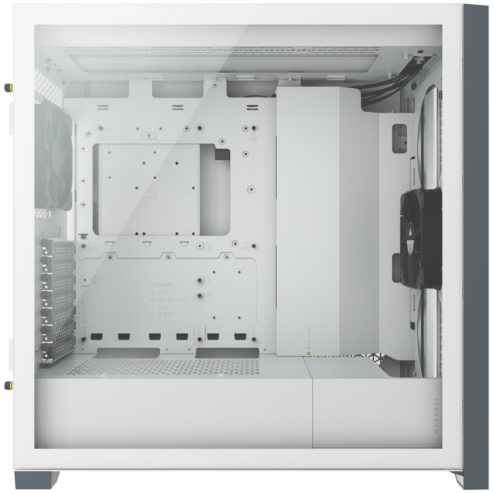 A large main feature product image of Corsair 5000D Airflow White Case w/ Tempered Glass Side Panel