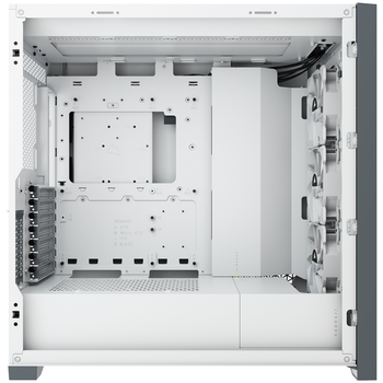 Product image of Corsair iCue 5000X RGB White Case w/ Tempered Glass Side Panel - Click for product page of Corsair iCue 5000X RGB White Case w/ Tempered Glass Side Panel