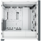 A small tile product image of Corsair iCue 5000X RGB White Case w/ Tempered Glass Side Panel