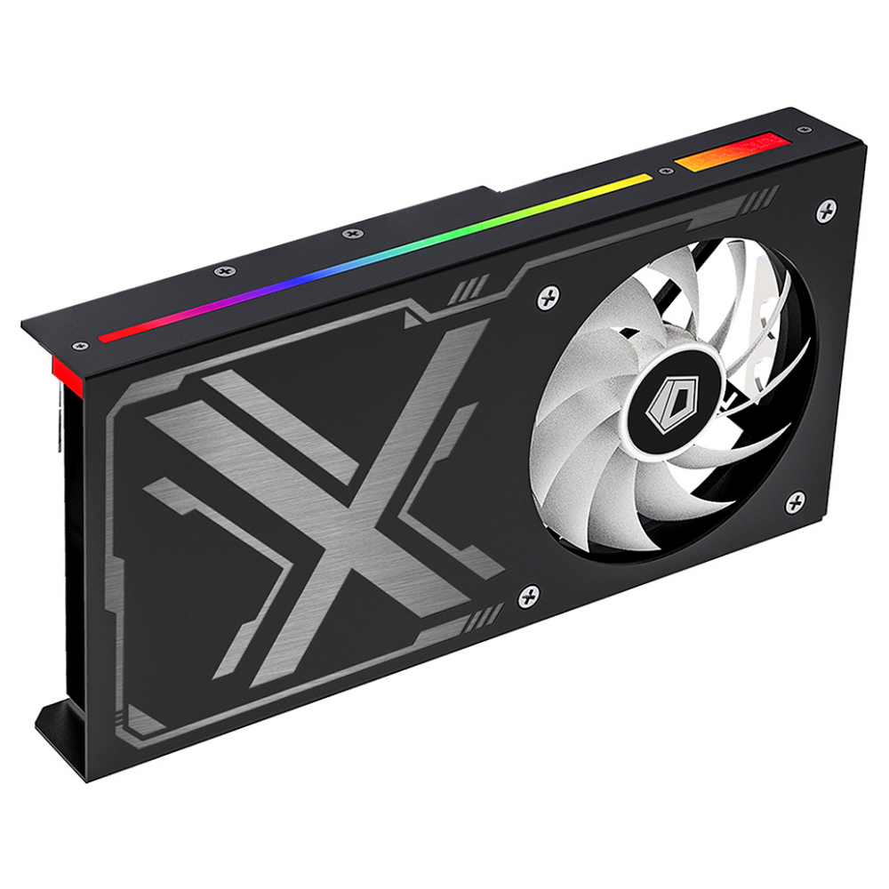 A large main feature product image of ID-COOLING IceFlow 240 AIO VGA Liquid Cooler