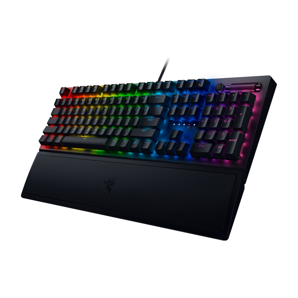 A large main feature product image of Razer Blackwidow V3 Mechanical Gaming Keyboard (Green Switch)