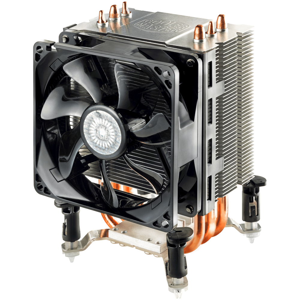 A large main feature product image of Cooler Master Hyper TX3 EVO CPU Cooler