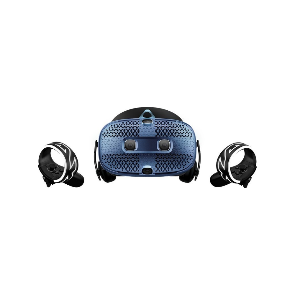 A large main feature product image of HTC VIVE Cosmos VR Headset with Link Box