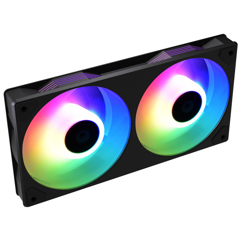 A large main feature product image of ID-COOLING IceFan 240 ARGB 2-in-1 Cooling Fan