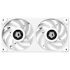 A product image of ID-COOLING IceFan 240 ARGB Snow 2-in-1 Cooling Fan