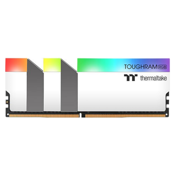Product image of Thermaltake 16GB Kit (2x8GB) DDR4 ToughRAM RGB C19 4600Mhz White Edition - Click for product page of Thermaltake 16GB Kit (2x8GB) DDR4 ToughRAM RGB C19 4600Mhz White Edition