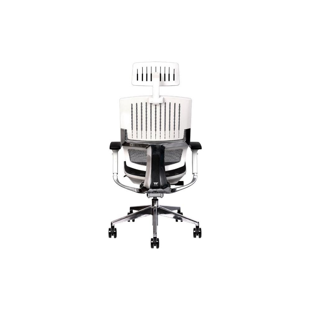A large main feature product image of Thermaltake E500 CyberChair Ergonomic Gaming Chair White Edition