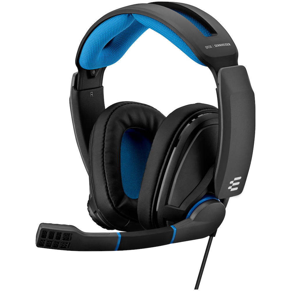 A large main feature product image of EPOS Gaming GSP 300 Gaming Headset