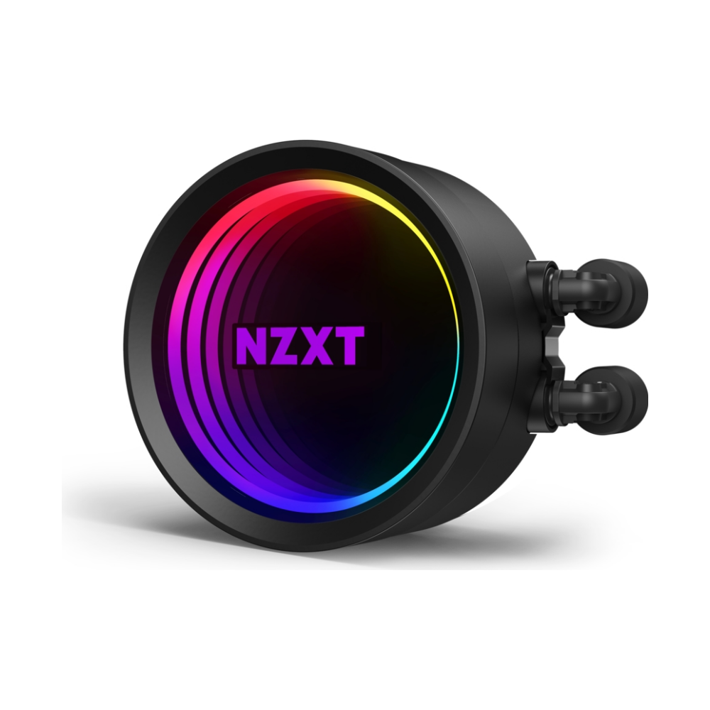 A large main feature product image of NZXT Kraken X53 RGB 240mm AIO Liquid CPU Cooler