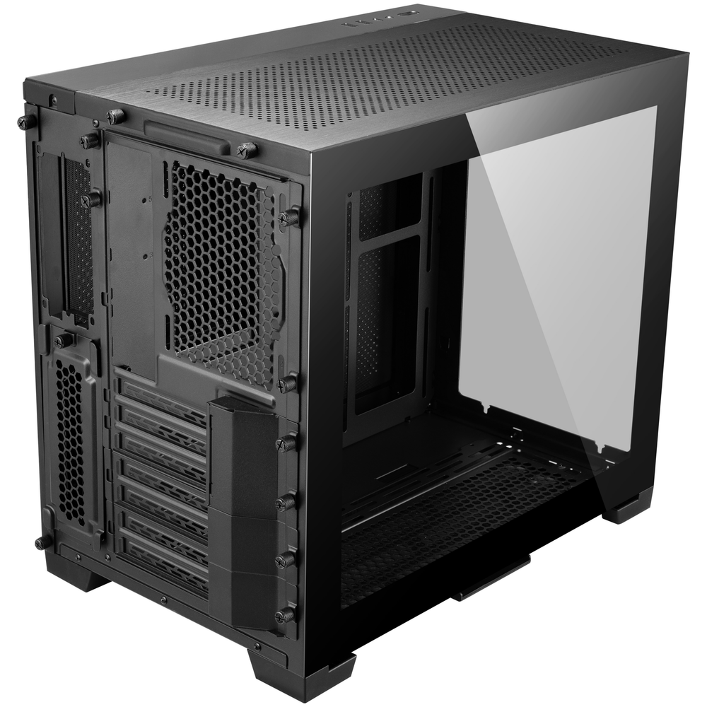 A large main feature product image of Lian-Li PC-O11D Mini Mid Tower Case - Black